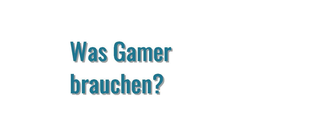 Was Gamer brauchen